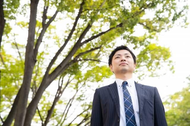 公園のビジネスマン